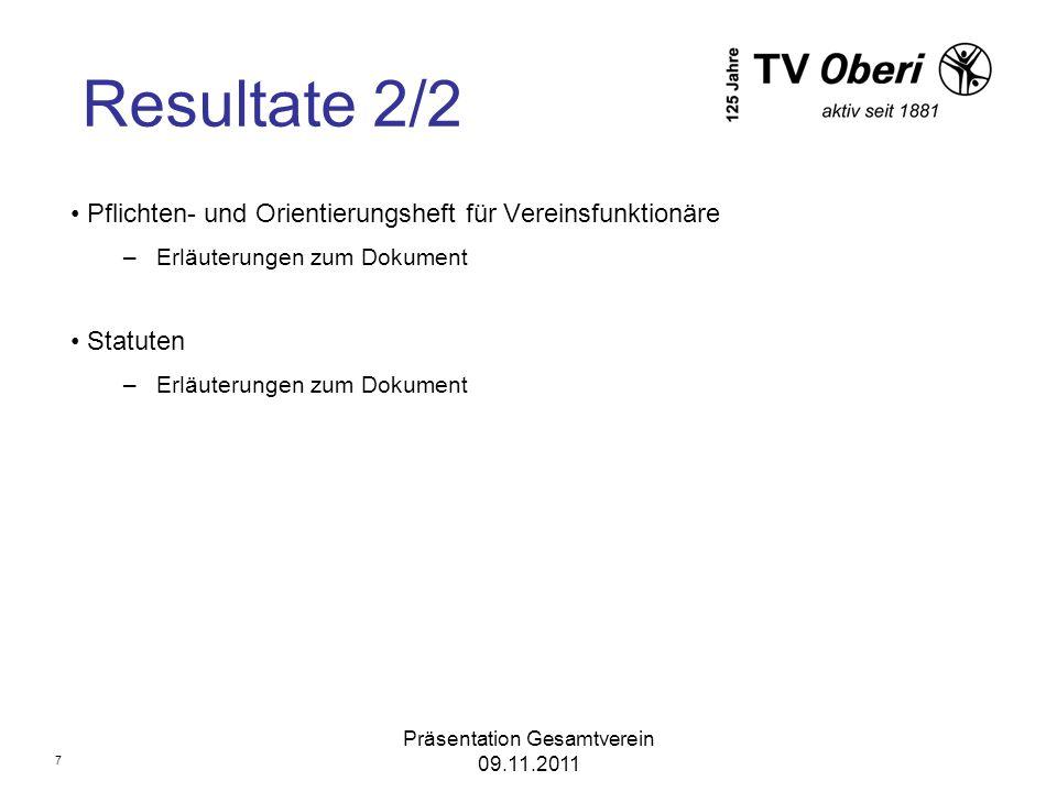Präsentation Gesamtverein 09.11.2011
