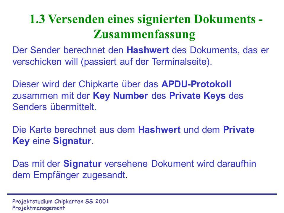 1.3 Versenden eines signierten Dokuments - Zusammenfassung