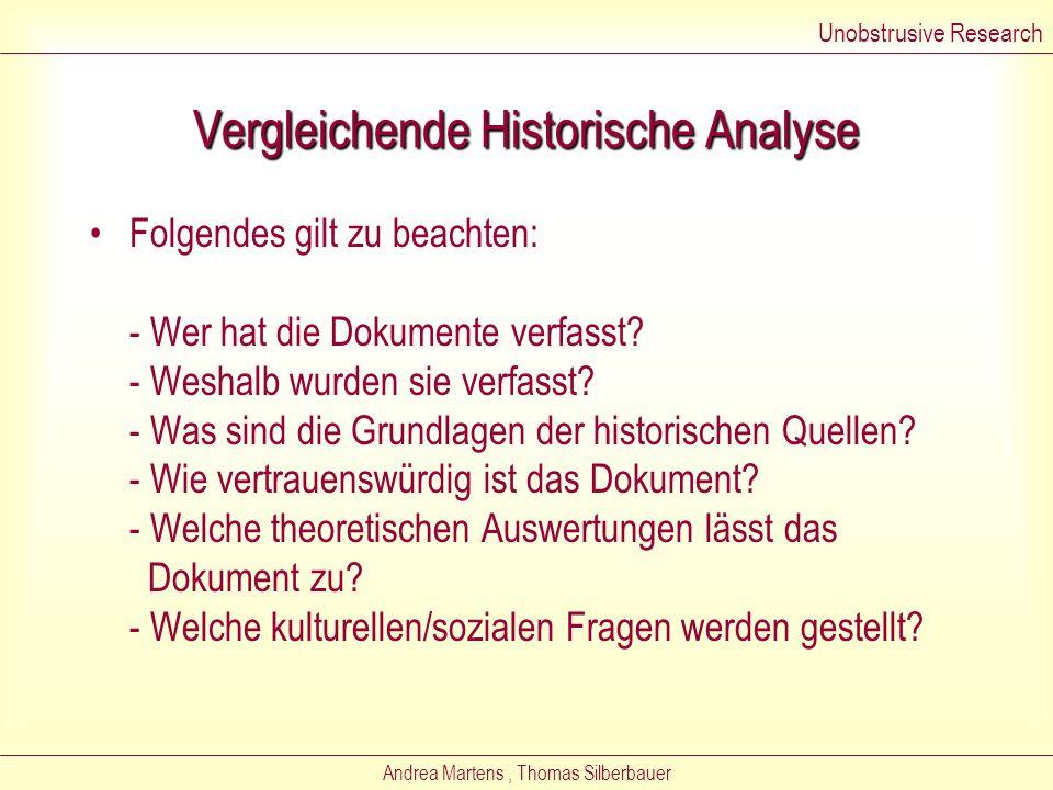Vergleichende Historische Analyse