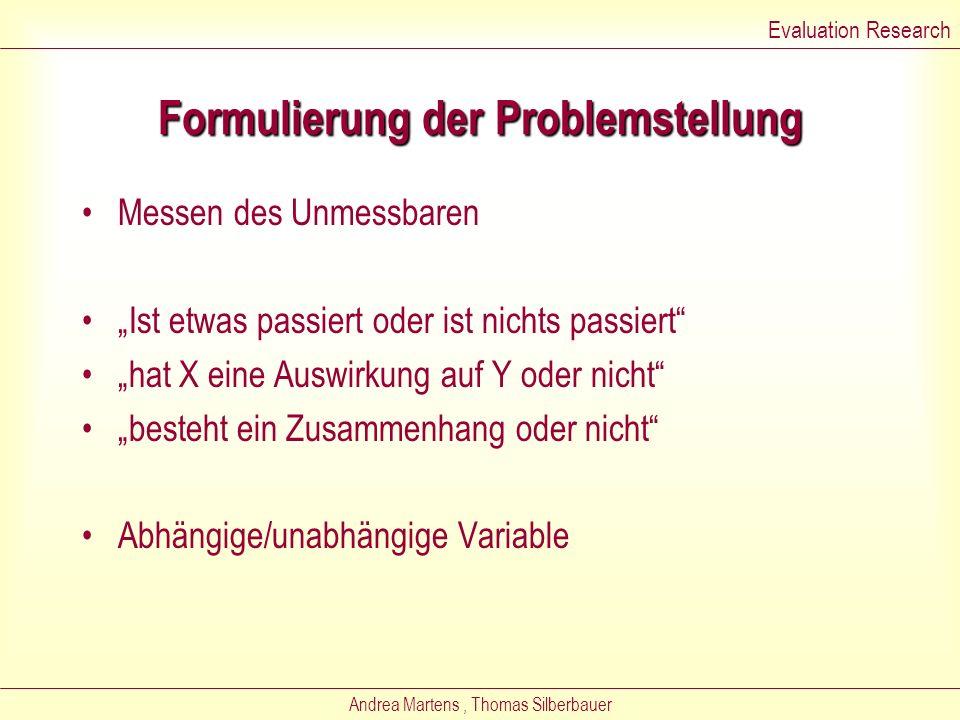 Formulierung der Problemstellung