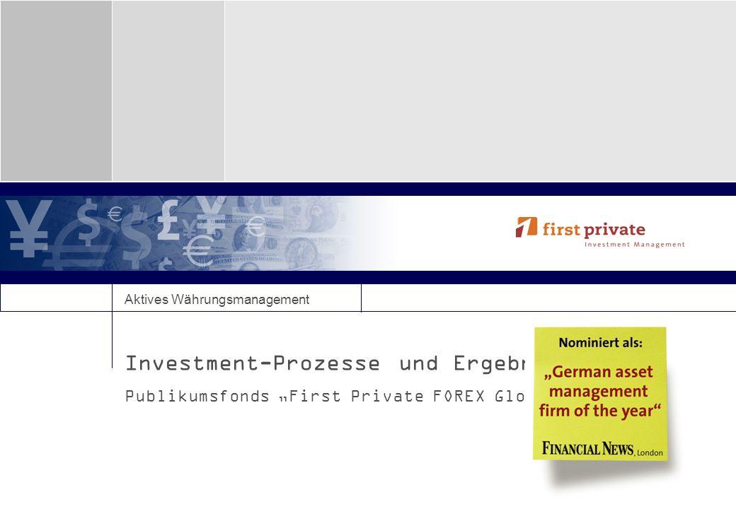 Investment-Prozesse und Ergebnisse