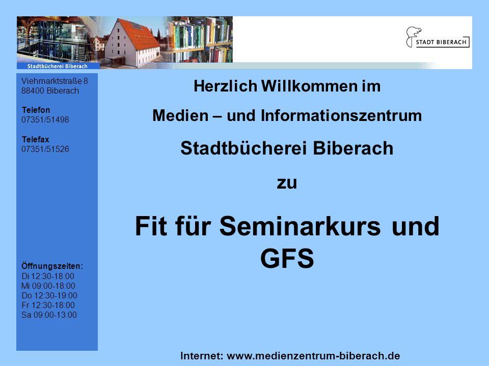 Fit für Seminarkurs und GFS