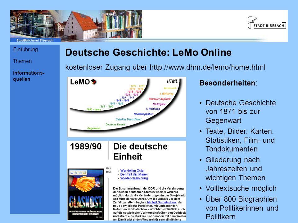 Deutsche Geschichte: LeMo Online