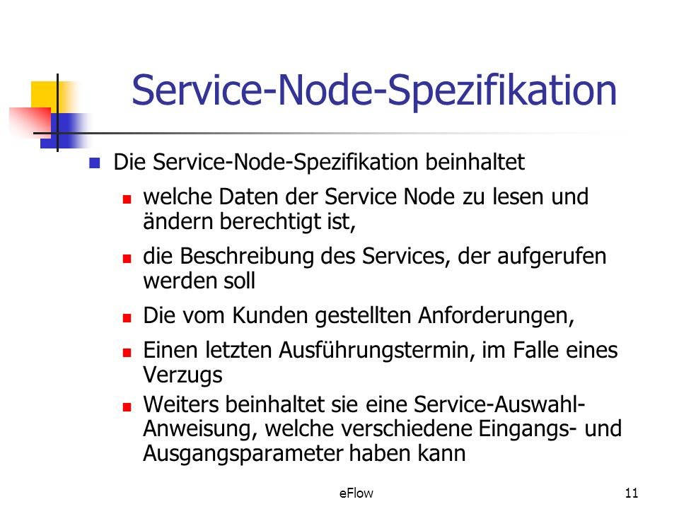 Service-Node-Spezifikation