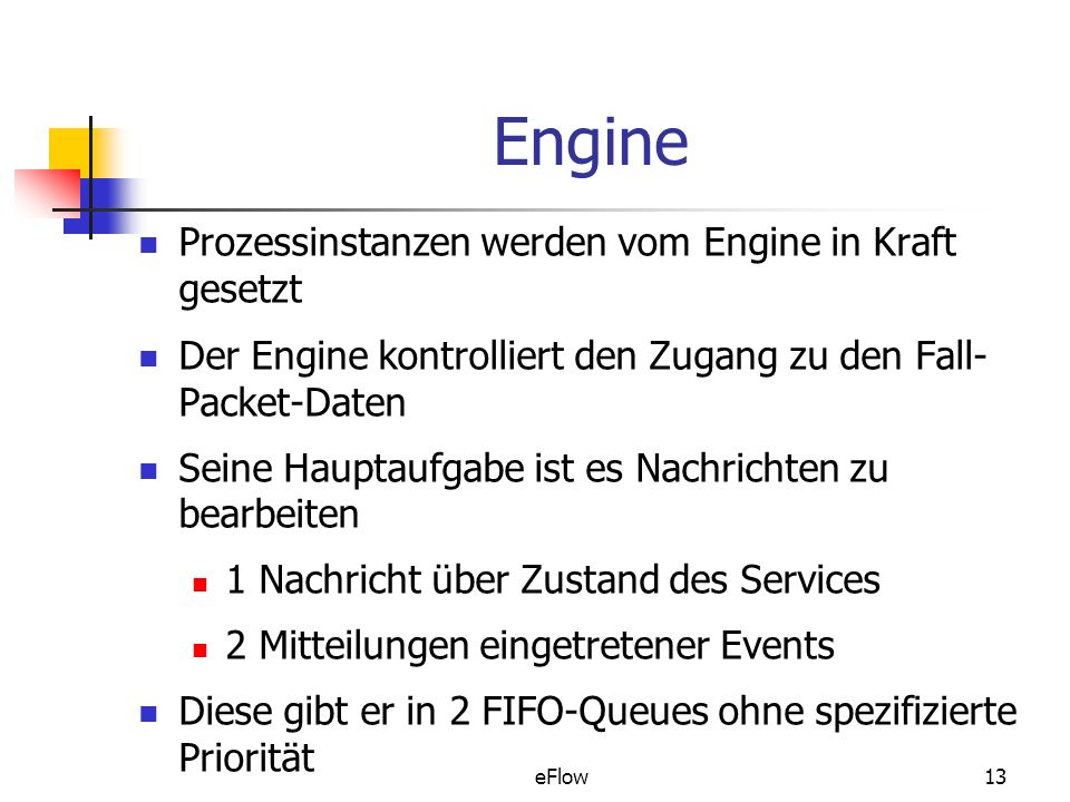 Engine Prozessinstanzen werden vom Engine in Kraft gesetzt