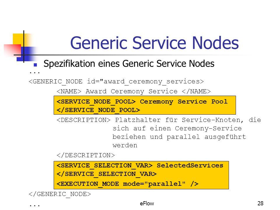Generic Service Nodes Spezifikation eines Generic Service Nodes ...