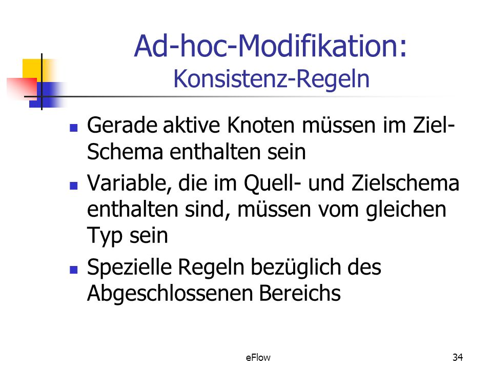 Ad-hoc-Modifikation: Konsistenz-Regeln