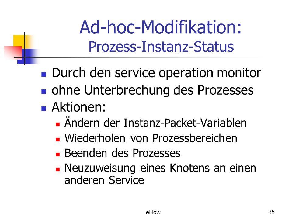 Ad-hoc-Modifikation: Prozess-Instanz-Status