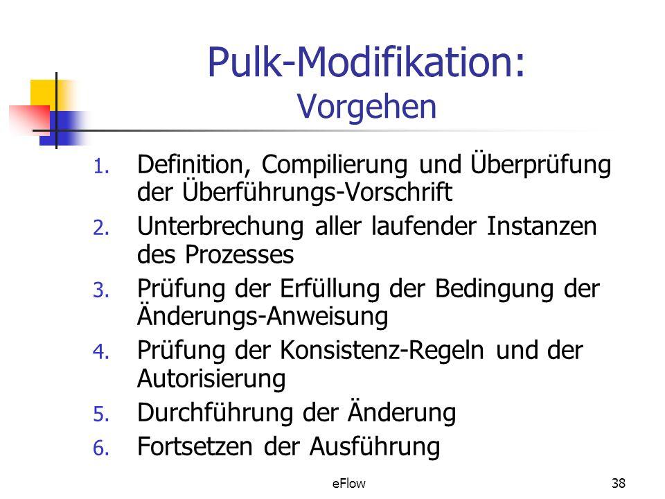 Pulk-Modifikation: Vorgehen
