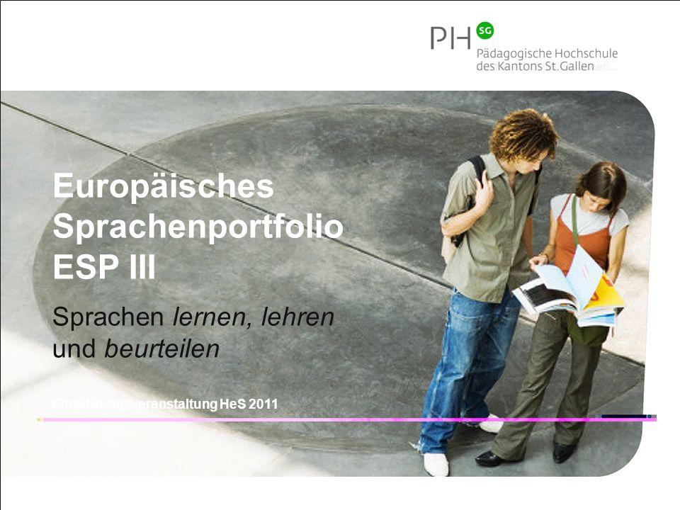 Europäisches Sprachenportfolio ESP III