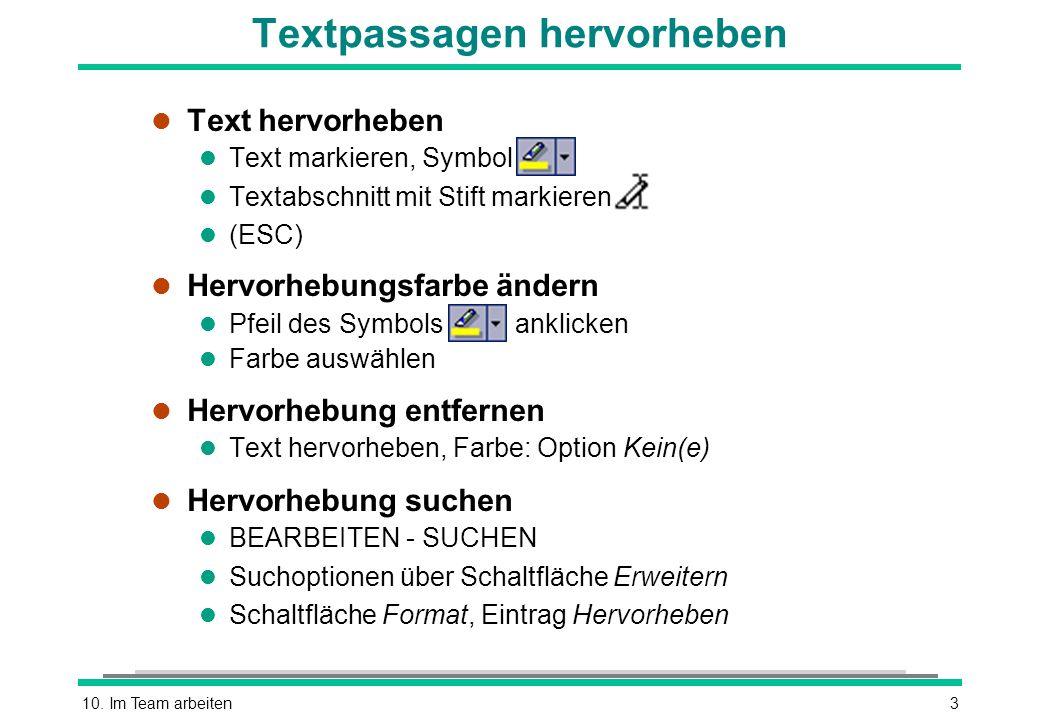 Textpassagen hervorheben