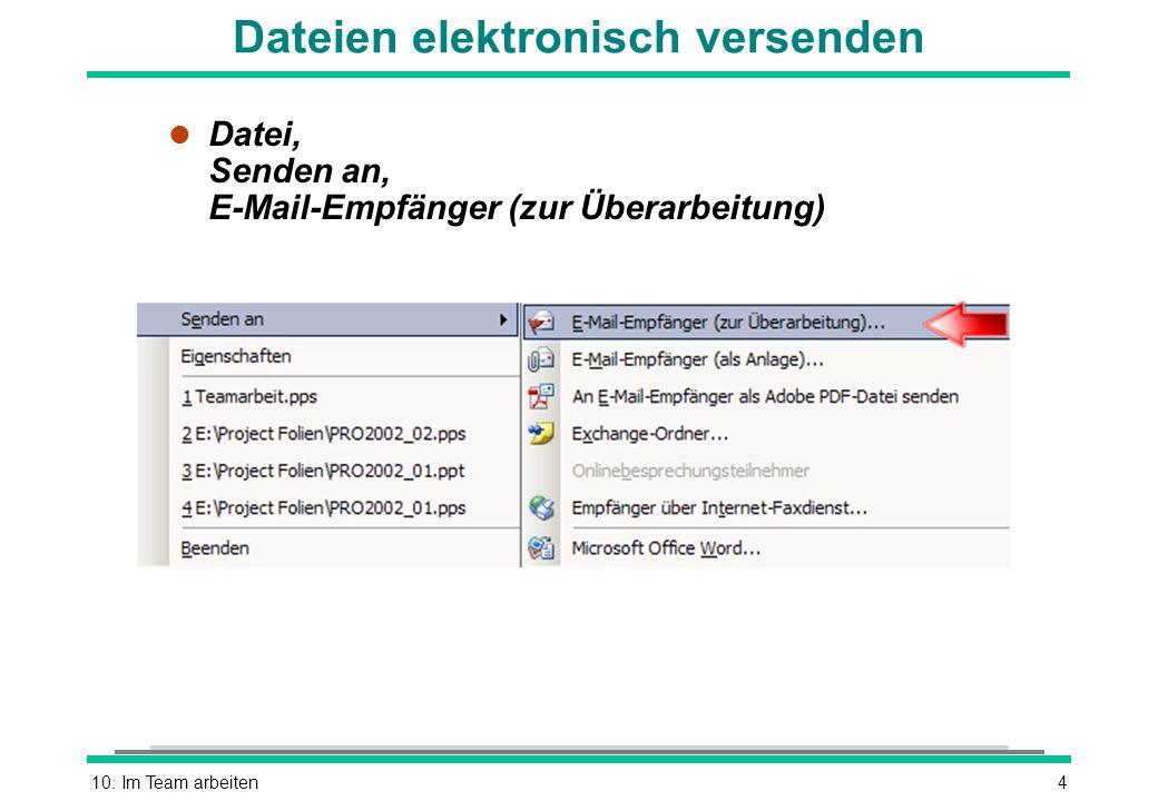 Dateien elektronisch versenden