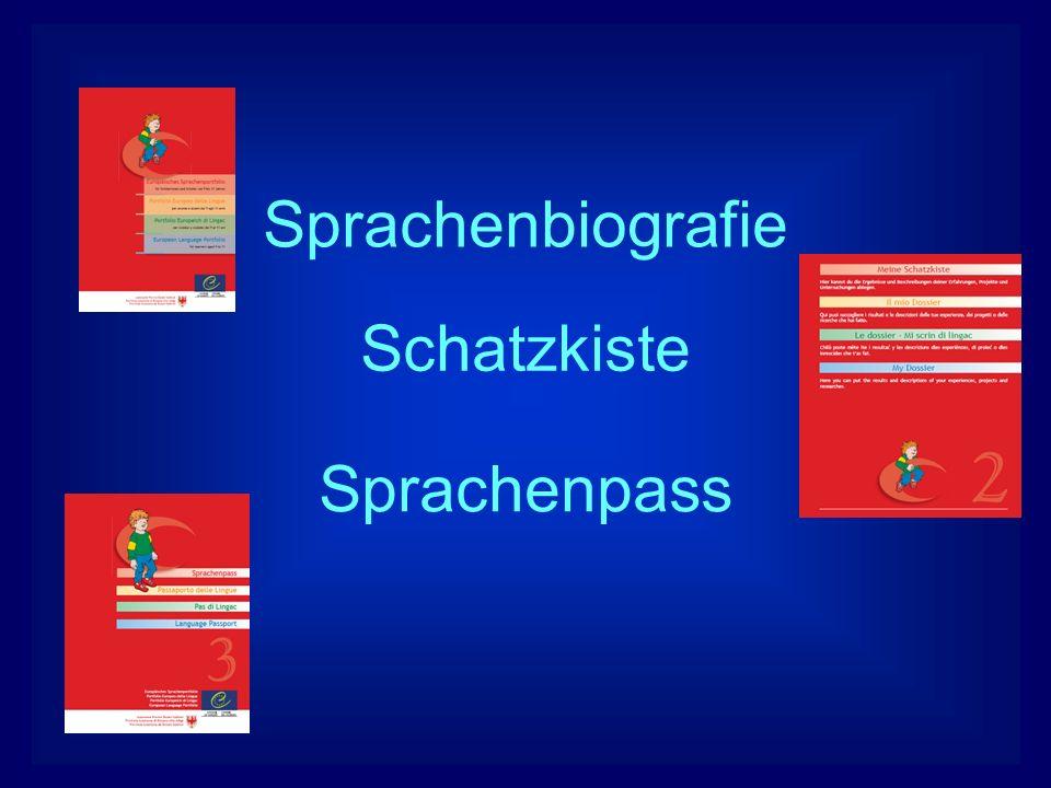 Sprachenbiografie Schatzkiste Sprachenpass