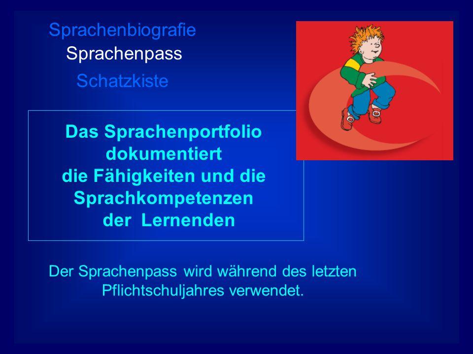 Sprachenbiografie Sprachenpass Schatzkiste
