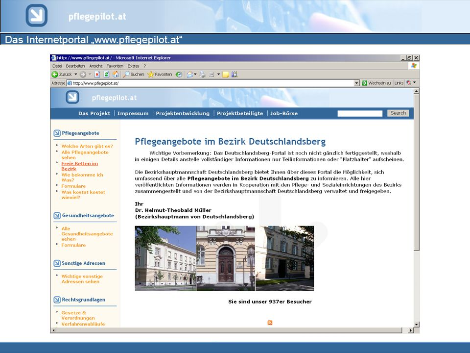 "Das Internetportal ""www.pflegepilot.at"