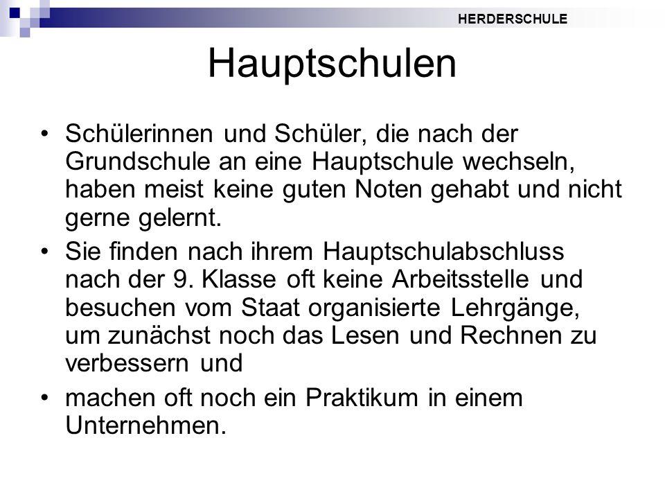 Hauptschulen