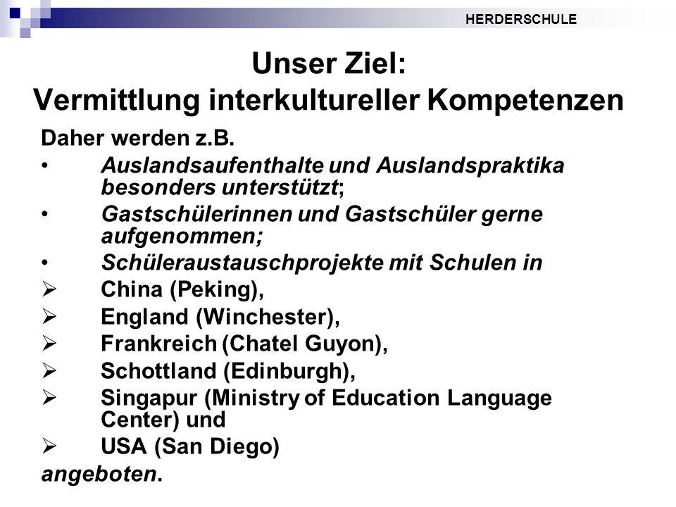 Unser Ziel: Vermittlung interkultureller Kompetenzen