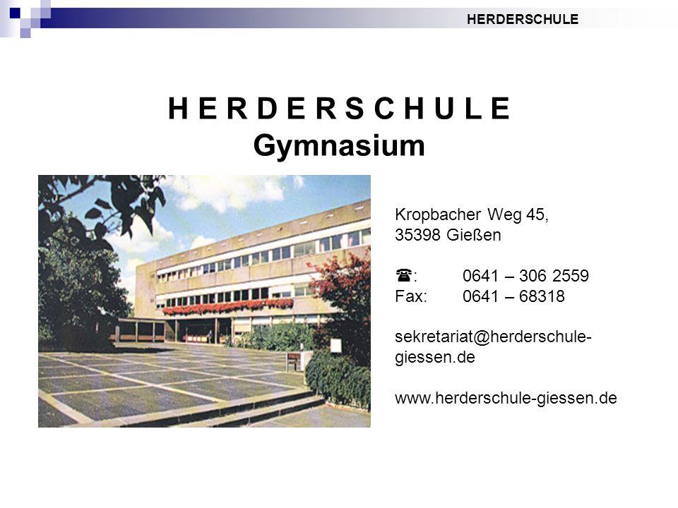 H E R D E R S C H U L E Gymnasium