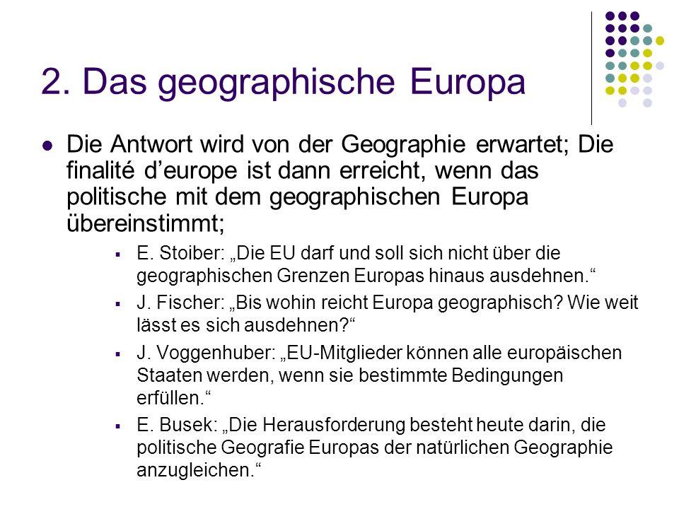 2. Das geographische Europa
