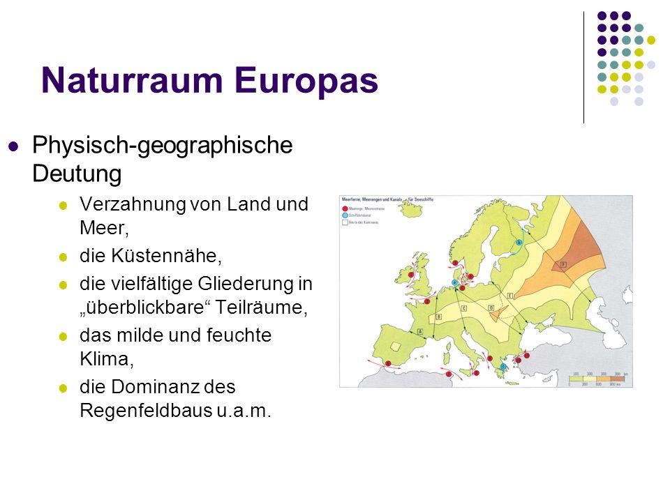 Naturraum Europas Physisch-geographische Deutung