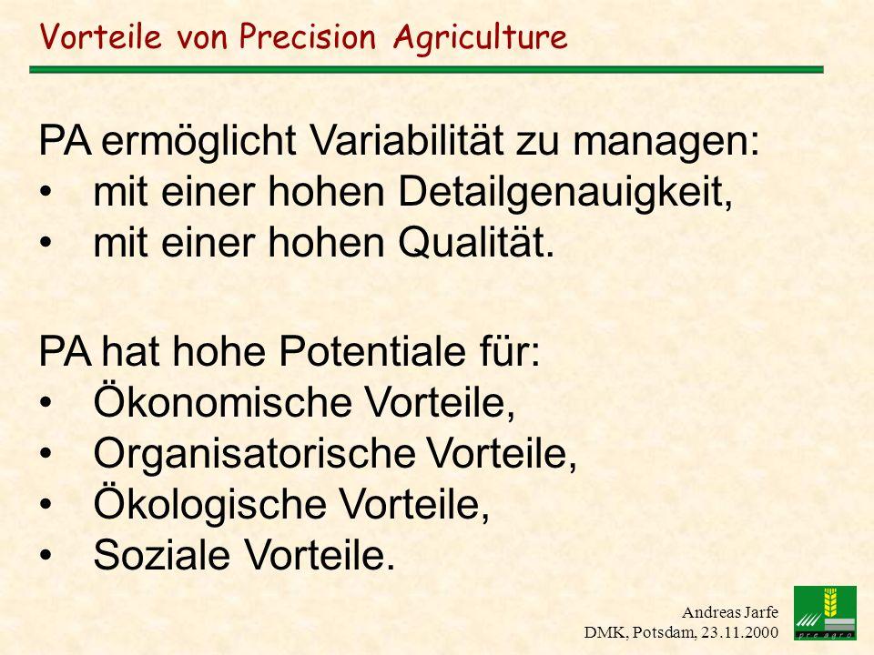 Vorteile von Precision Agriculture