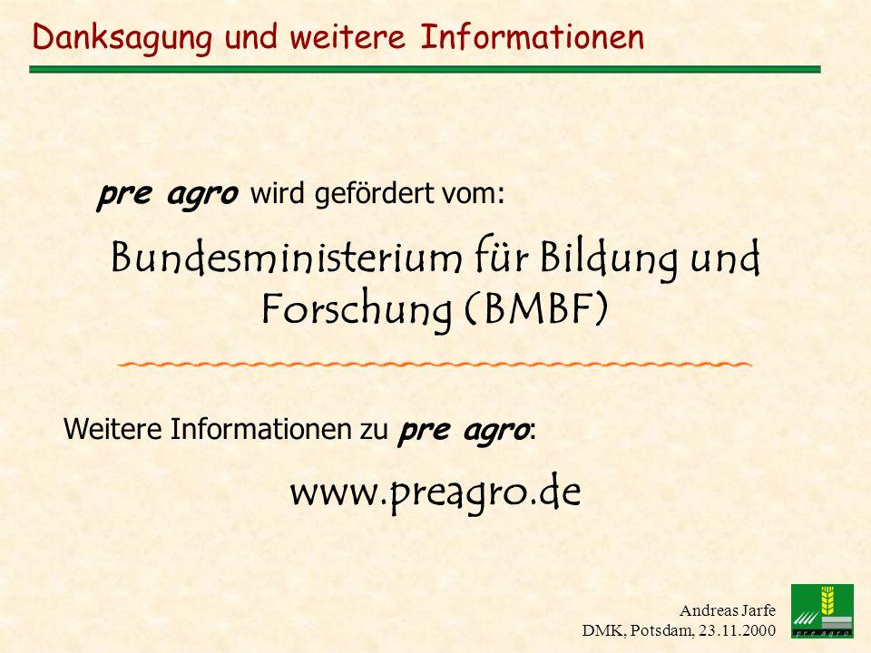 Danksagung und weitere Informationen