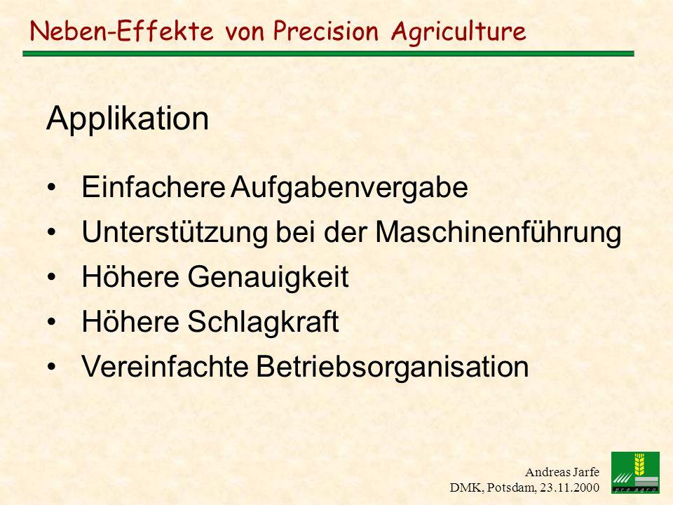 Neben-Effekte von Precision Agriculture
