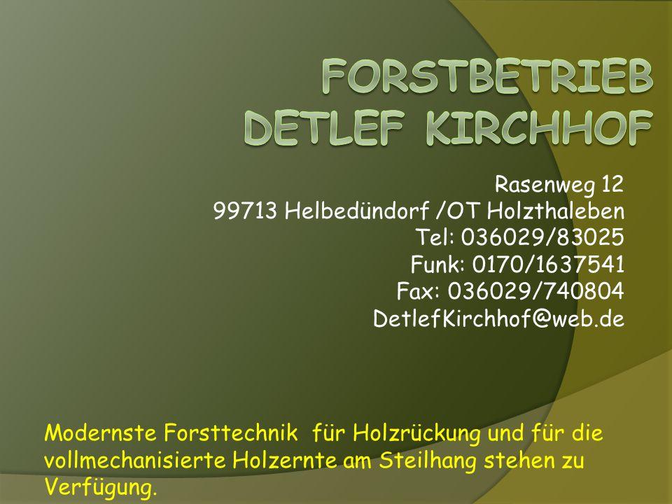 Forstbetrieb Detlef kirchhof