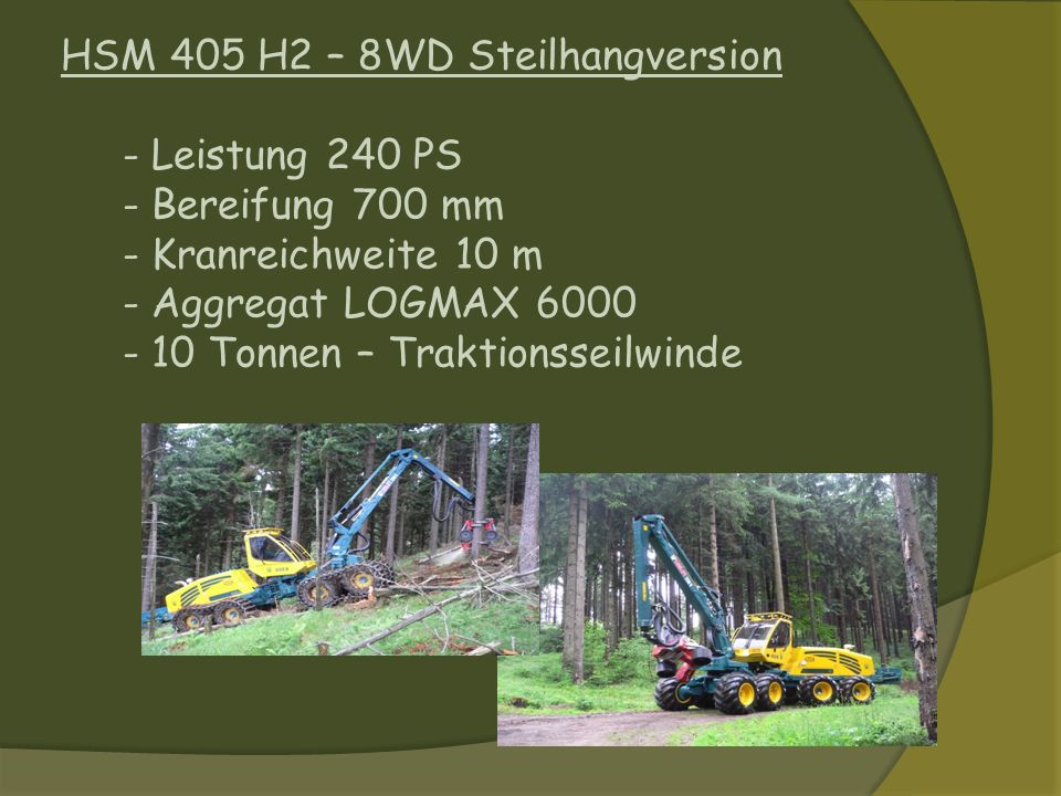 HSM 405 H2 – 8WD Steilhangversion