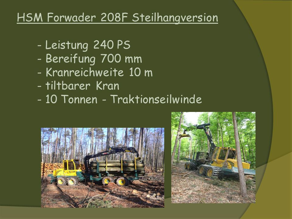 HSM Forwader 208F Steilhangversion
