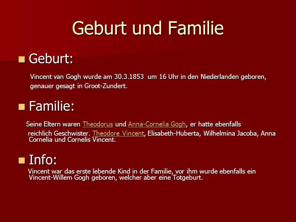 Geburt und Familie Geburt:
