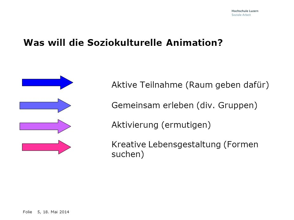 Was will die Soziokulturelle Animation