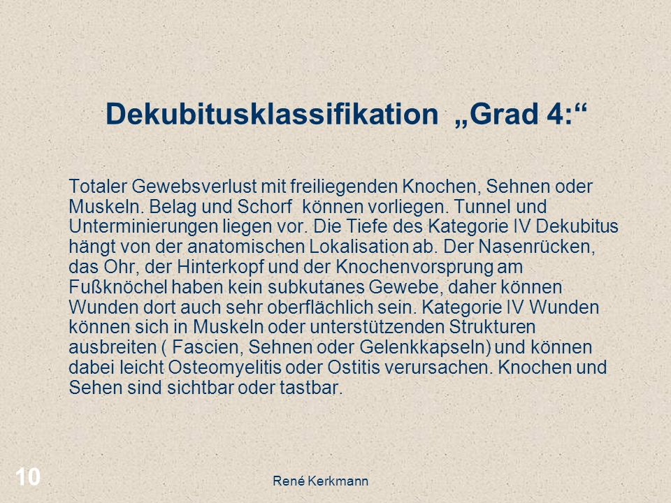 "Dekubitusklassifikation ""Grad 4:"