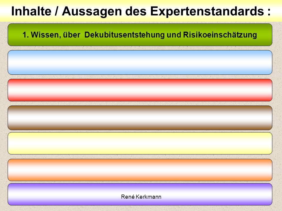 Inhalte / Aussagen des Expertenstandards :
