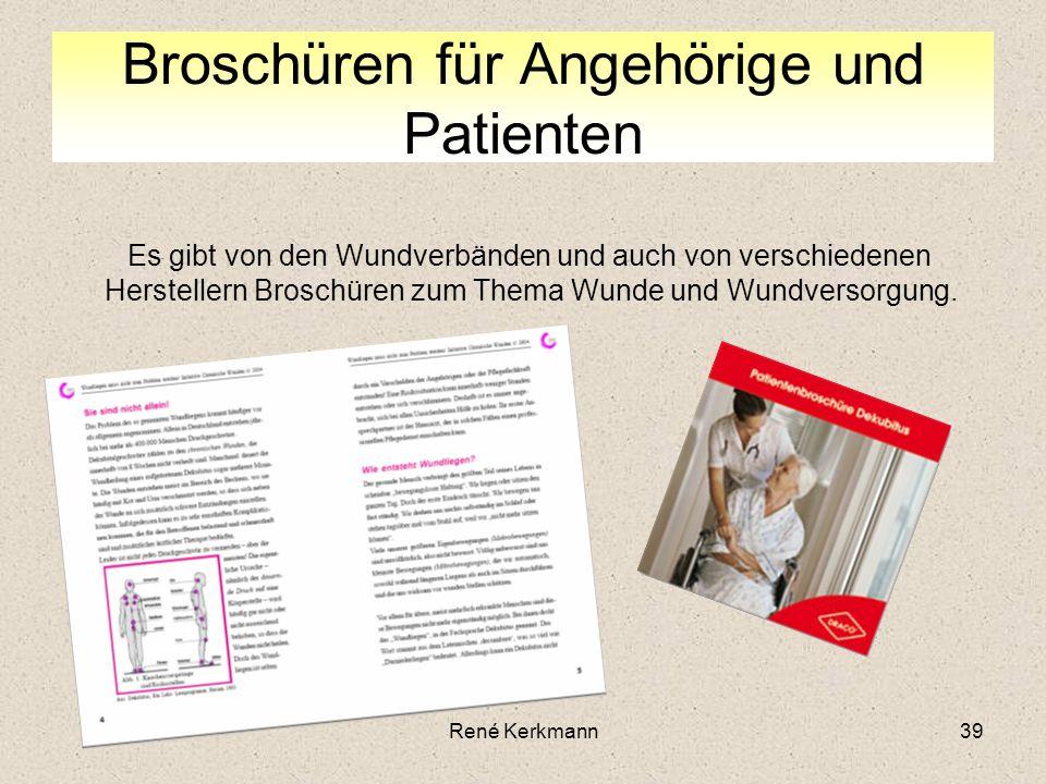 Broschüren für Angehörige und Patienten