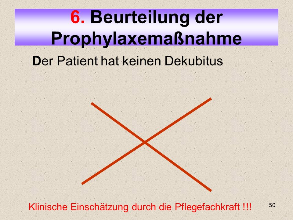 6. Beurteilung der Prophylaxemaßnahme