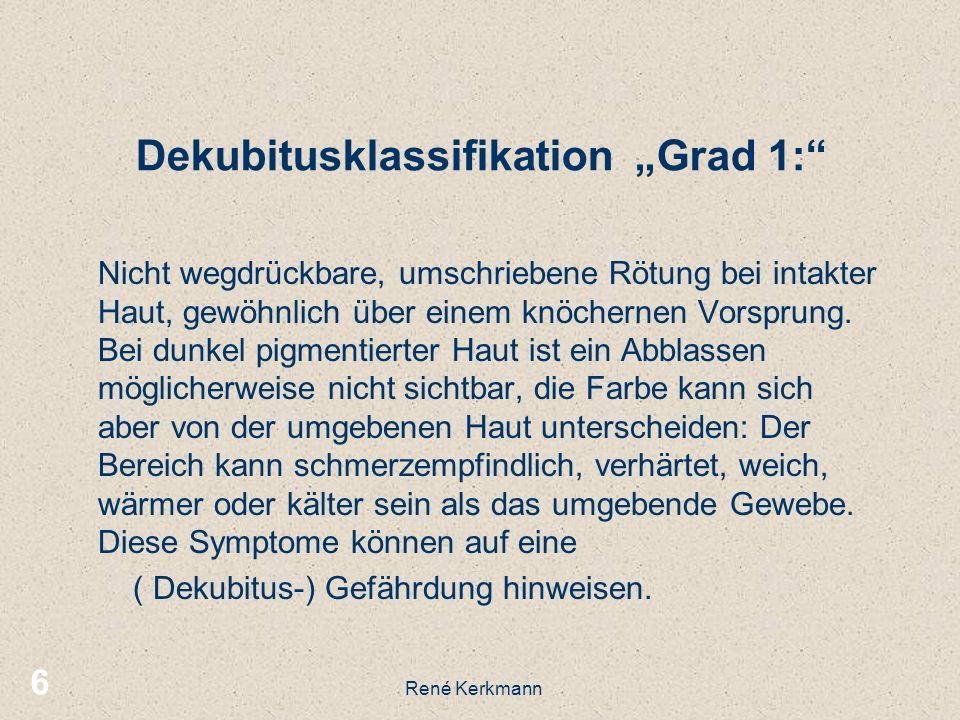 "Dekubitusklassifikation ""Grad 1:"