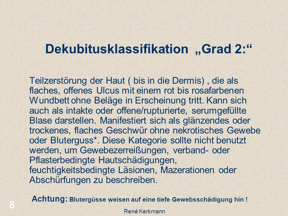 "Dekubitusklassifikation ""Grad 2:"