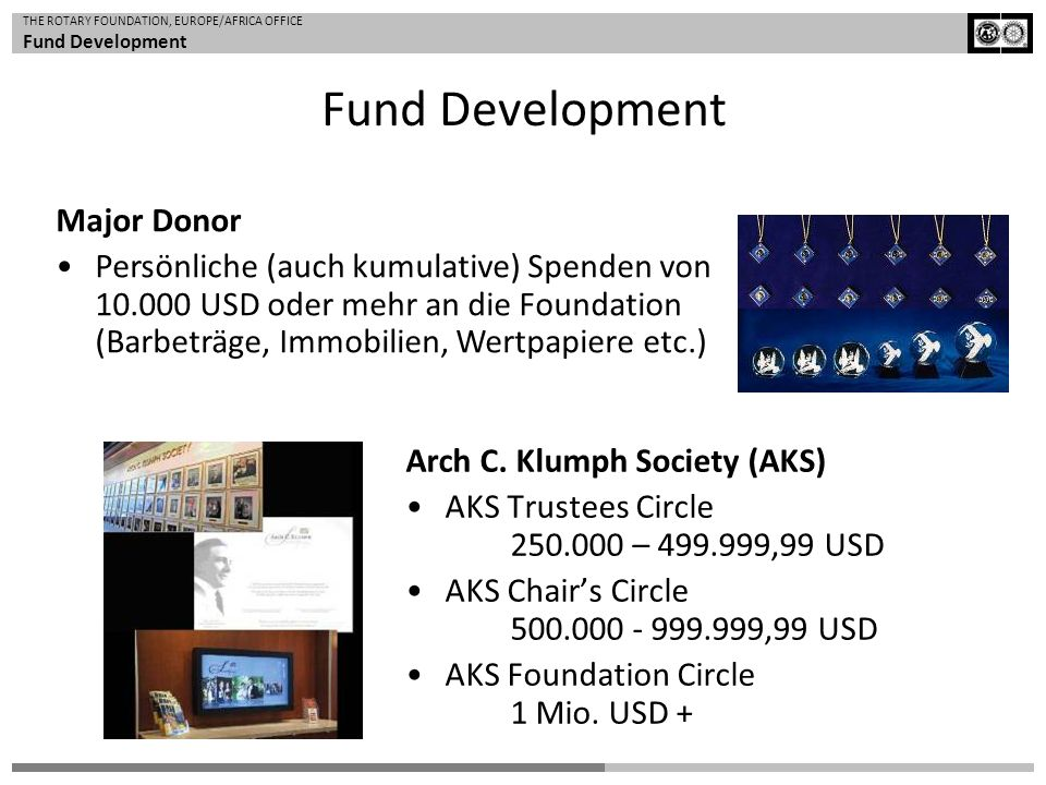 Fund Development Major Donor