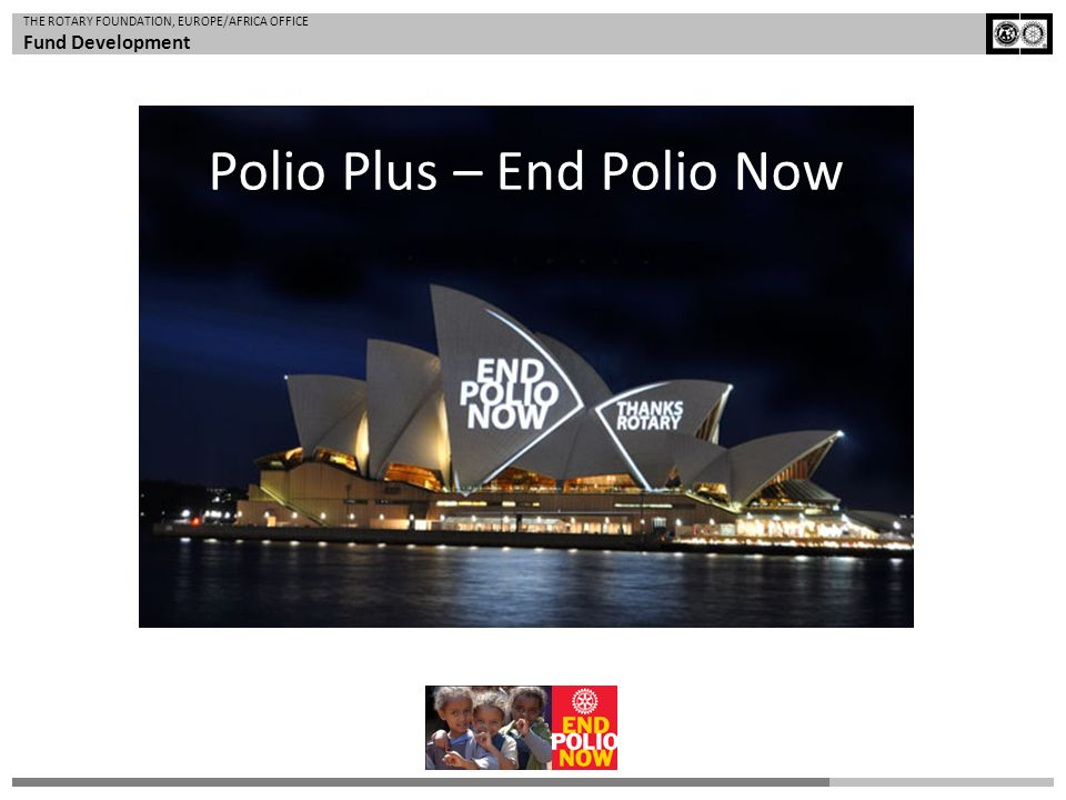Polio Plus – End Polio Now