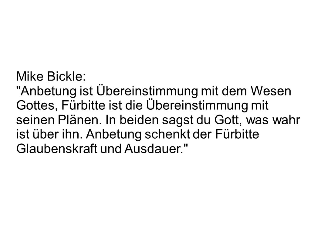 Mike Bickle: