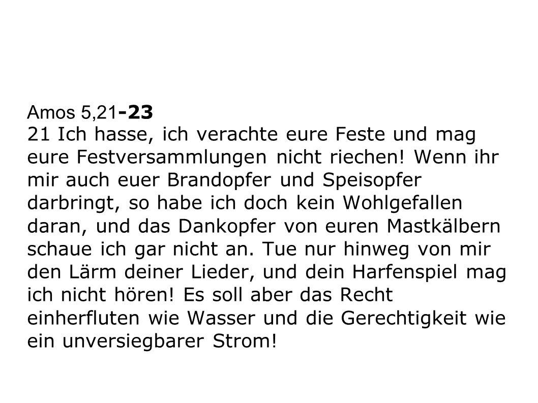 Amos 5,21-23