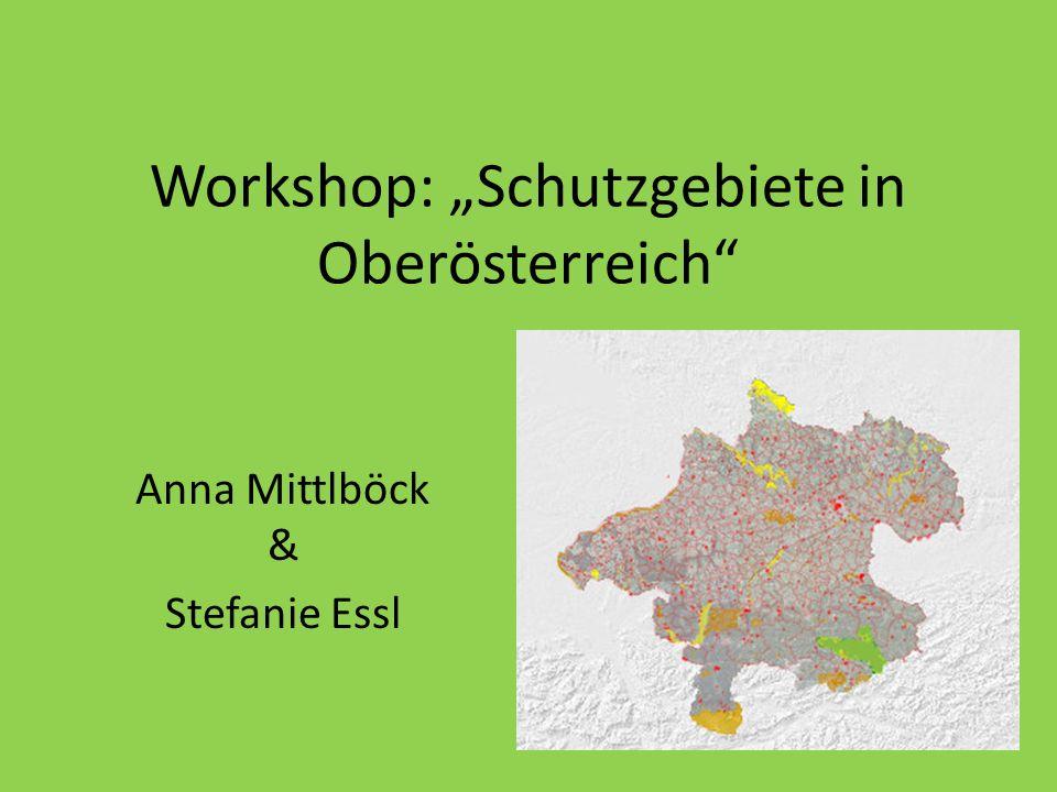 """Workshop: """"Schutzgebiete in Oberösterreich"""