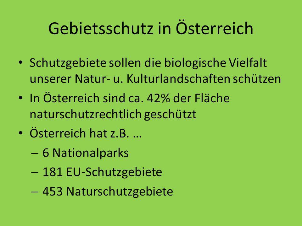 Gebietsschutz in Österreich
