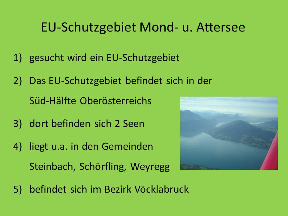 EU-Schutzgebiet Mond- u. Attersee