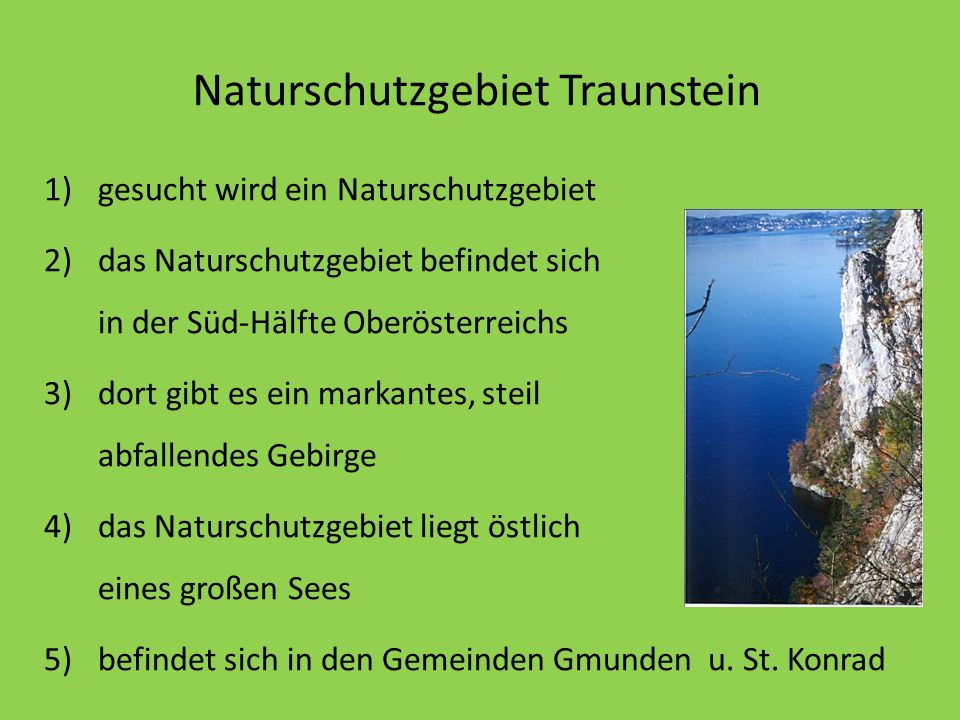 Naturschutzgebiet Traunstein