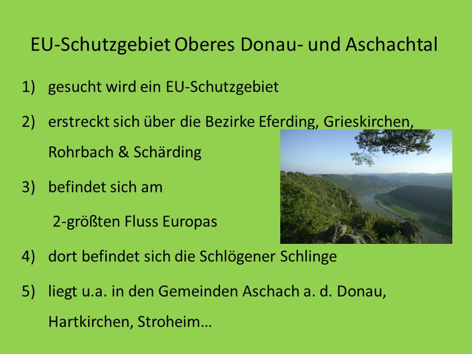 EU-Schutzgebiet Oberes Donau- und Aschachtal