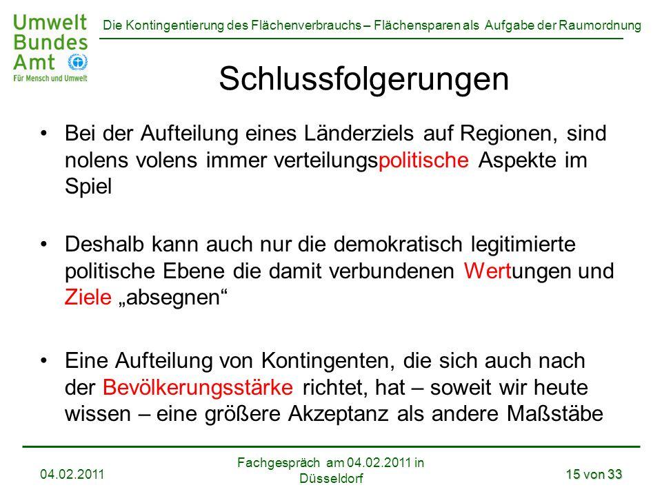 Fachgespräch am 04.02.2011 in Düsseldorf