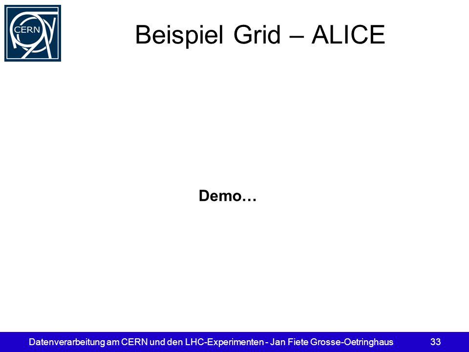 Beispiel Grid – ALICE Demo…