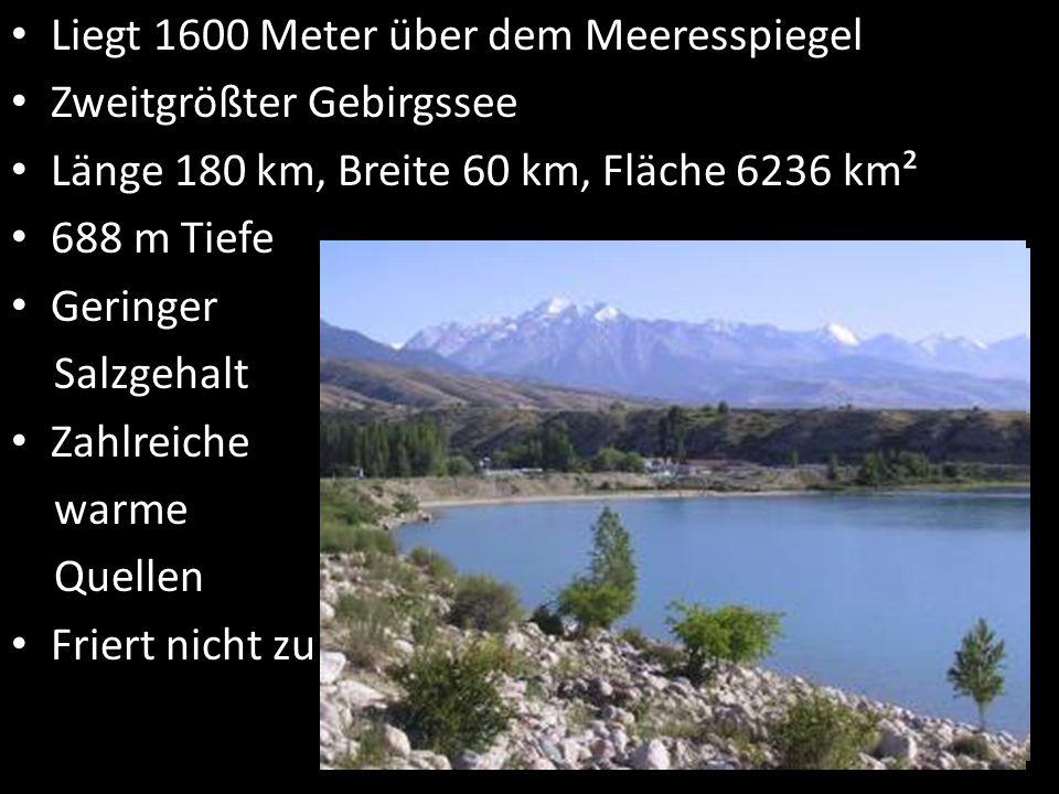 Liegt 1600 Meter über dem Meeresspiegel